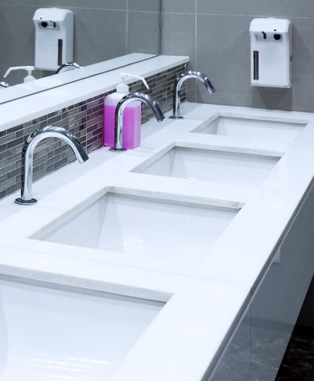 Public bathroom sinks