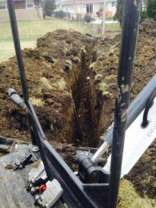 Water Line Repair Digging
