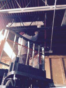 Replacing plumbing in ceiling